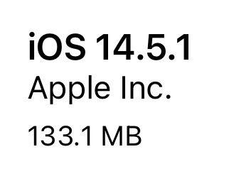 iOS 14.5.1(18E212)リリース。1件の不具合の修正、2件のセキュリティ問題(CVE)に対応したマイナーアップデート。AirTagなど新製品に対応。アップデートすべきか否か、サイズ、更新内容、時間、更新後不具合の有無についてご紹介