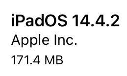 iPadOS 14.4.2(18D70)リリース。1件のセキュリティ問題(CVE)への対応のみのメンテナンスリリース。アップデートすべきか否か、サイズ、更新内容、時間、更新後不具合の有無についてご紹介