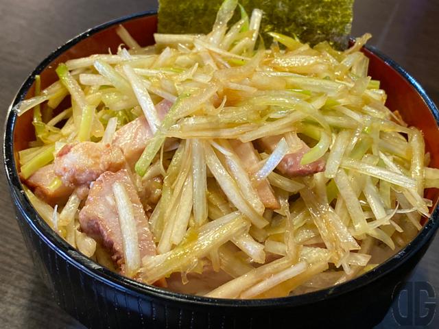 ミニ丼のネギ丼セット(250円)