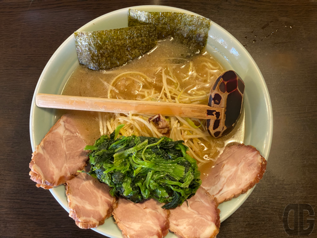 ネギチャーシューメン+ほうれん草+中盛